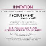 Invitation soirée Acto interim